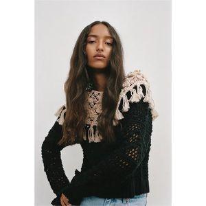 Zara Combined Knit Sweater